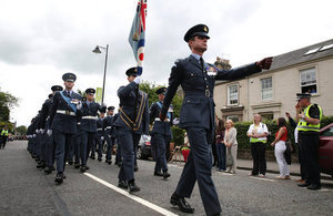 Royal Air Force personnel on parade at the Armed Forces Day national event in Stirling [Picture: Corporal Rich Denton, Crown copyright]