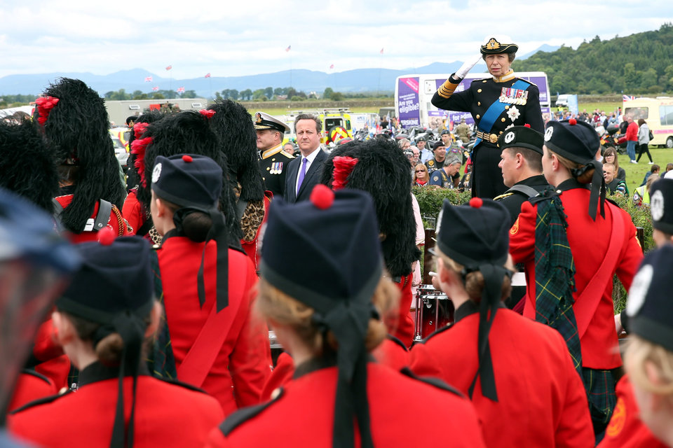 The Princess Royal takes the salute
