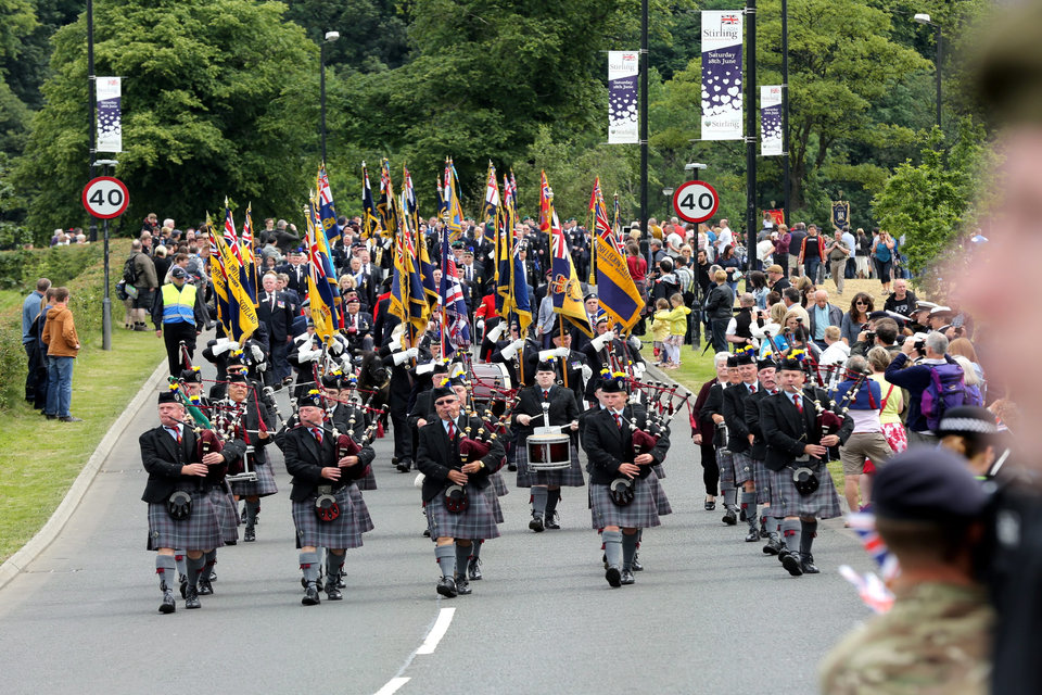 Veterans on parade