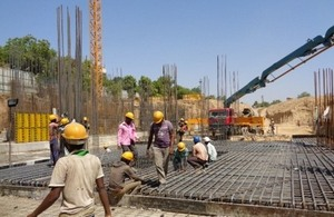 Ahmedabad sports stadium under construction