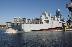 Type 45 destroyer Duncan is launched