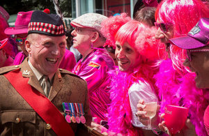 A member of the British Army at Pride in London [Picture: Nicolas Chinardet]