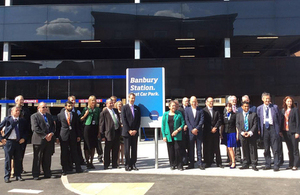 Baroness Kramer opens Banbury Station's new 700 space car park