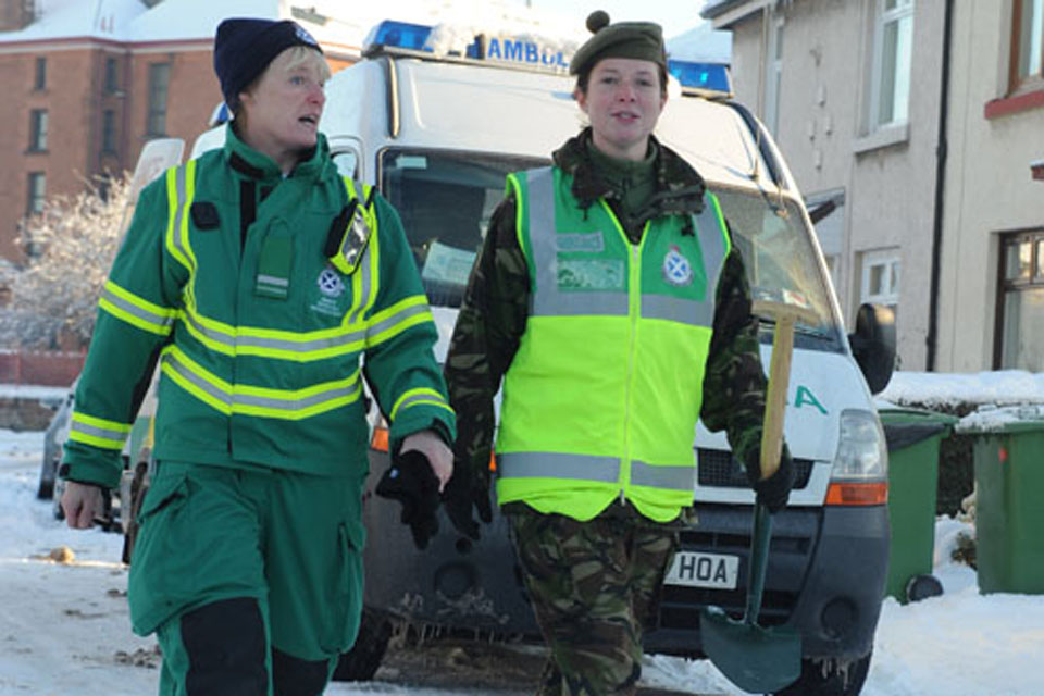 Christine Lyall, Special Operations Response Team paramedic team leader with the Scottish Ambulance Service, and Lance Corporal Mary Ramsay, Territorial Army