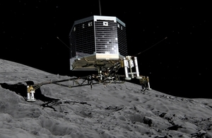 Artist's impression of Philae lander on comet 67P