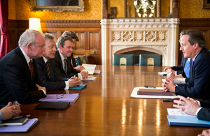 The Prime Minister and Secretary of State for Northern Ireland met with the First and deputy First Ministers of Northern Ireland