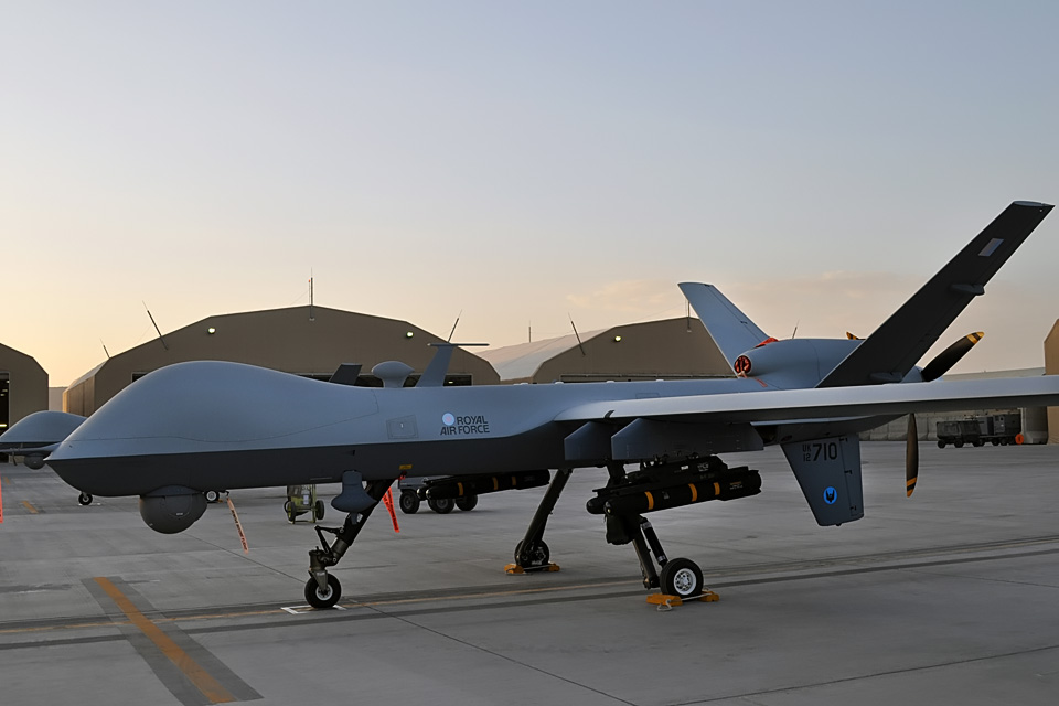 An RAF Reaper at Kandahar Airfield
