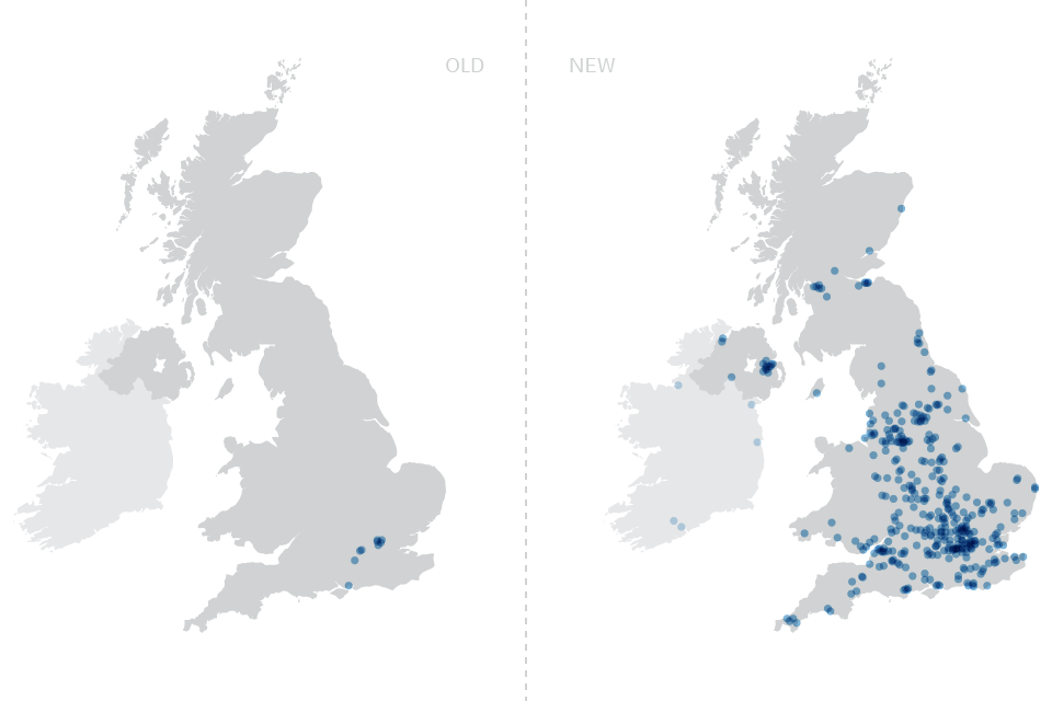 Figure 1 - Government technology now comes from suppliers all over the UK
