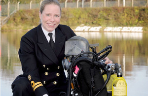 Lieutenant Catherine Ker is the first female to train as a Minewarfare and Clearance Diving Officer