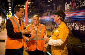 Prime Minister talks to workers