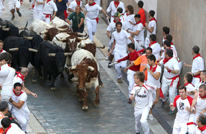 The Running of the Bulls at San Fermin