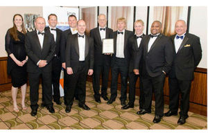 Members of the Godmanchester Flood Risk Management Scheme Project Team accept their awards