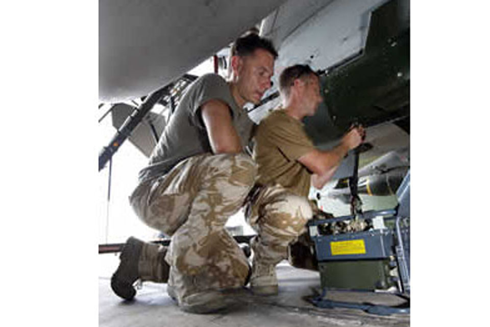Royal Engineers and signallers ensure operations over Libya run smoothly from their Gioia del Colle base