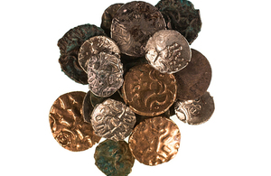 Coins found in Reynard's Kitchen Cave [Picture: Copyright Richard Davenport Photography]