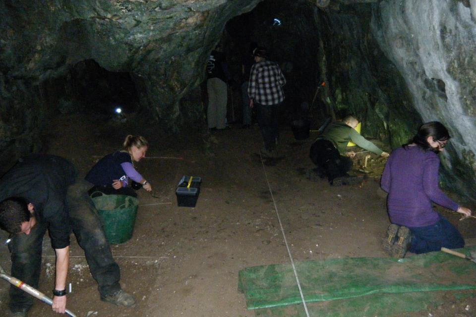 Excavation in  Reynard's Kitchen Cave