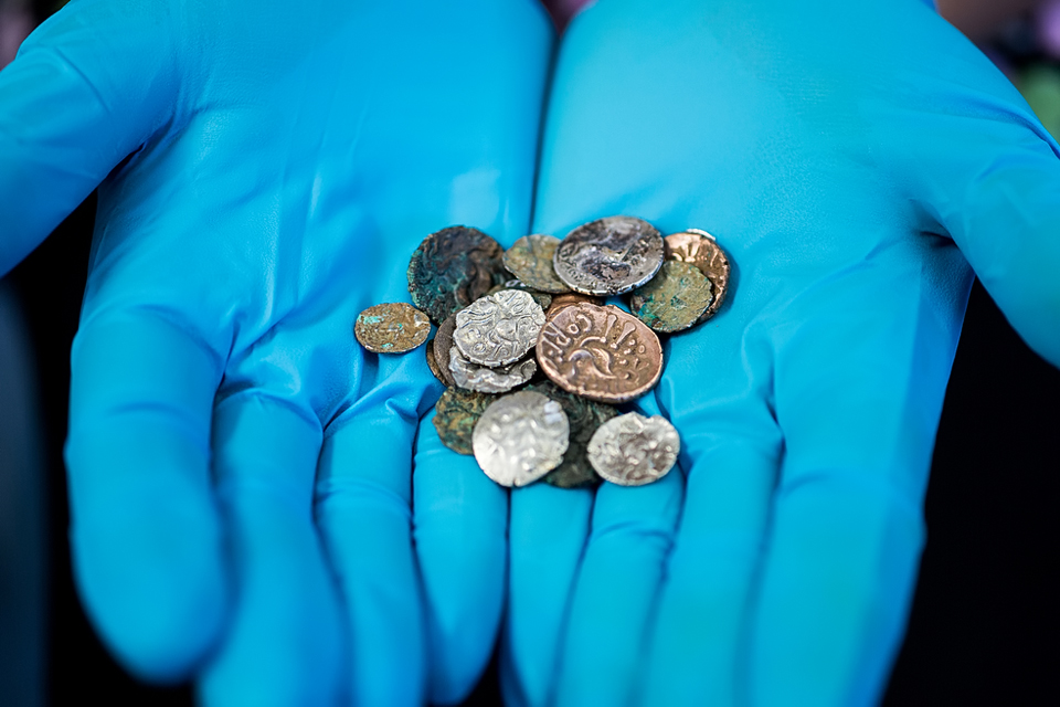 Coins found in Reynard's Kitchen Cave