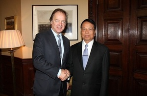 Foreign Office Minister and the Burmese Minister for Electric Power