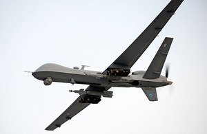 A RAF Reaper Remotely Piloted Air System