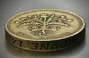 Image of a one pound coin