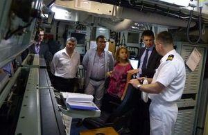 British diplomats visit HMS CHIDDINGFOLD