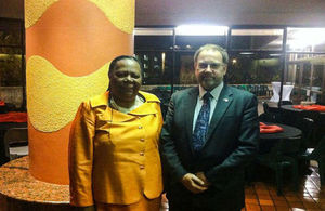 Naledi Pandor and Professor Robin Grimes, the FCO Chief Scientific Advisor (CSA)