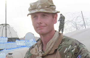 Major Tom Perkins in Afghanistan