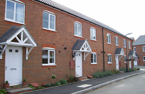 New build social housing in Warwick.