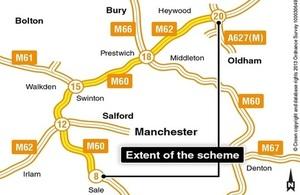 Smart motorway map
