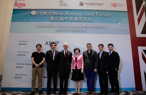 Consul General Alastair Morgan with UK company speakers from Arup, Aedas, Wei Yang & Partners and local urban planners