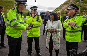 Baroness Verma meets with CNC officers and Chief Constable Mike Griffiths