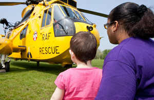 Visitors to Regent's Park on Wednesday last week were surprised to see an RAF Search and Rescue helicopter had taken up residence