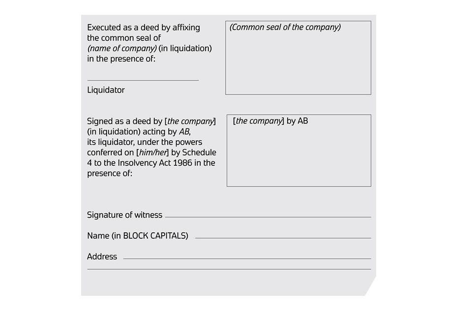 Practice Guide 35 Corporate Insolvency Gov Uk
