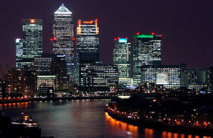 Canary Wharf is the heart of London's business operations.