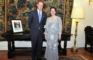British Ambassador Fiona Clouder and Prince Harry.