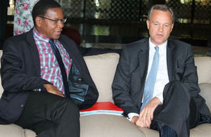 Hon.Bernard Membe, Foreign Affairs Minister with Mark Simmonds, UK Minister for Africa