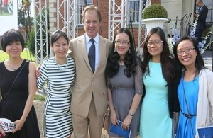 Minister of State Hugo Swire and Vietnamese Chevening Scholars