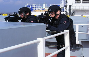 Officers on a boat