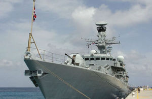 HMS Argyll in Grand Turk