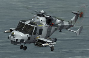 Computer-generated image of the Royal Navy's Wildcat attack helicopter fitted with next-generation precision missiles [Picture: AgustaWestland]