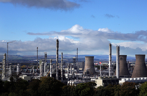Grangemouth in Falkirk, Scotland.