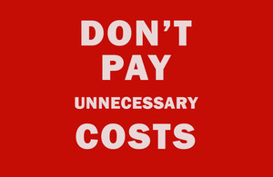 Don't pay unnecessary costs