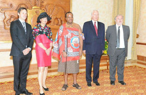 High Commissioner Judith Macgregor presented her credentials in Swaziland