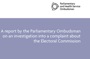 PHSO publishes report about Electoral Commission