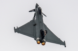 A 29 (Reserve) Squadron Typhoon aircraft (library image) [Picture: Andrew Linnett, Crown copyright]