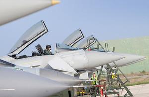 S300 raf typhoons return from libya operations