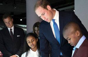 HRH Price William visiting IWM London