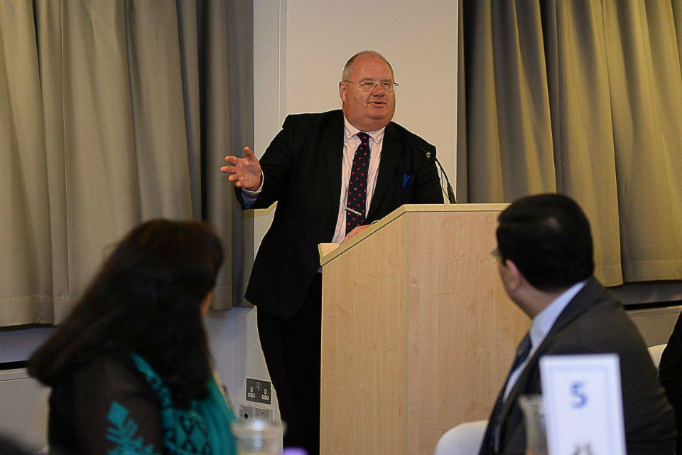 Eric Pickles speaks at the Hounslow Big Iftar
