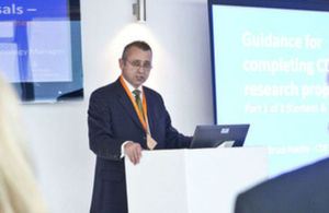 CDE Technology Manager, Bruce Hardie, presenting at an event