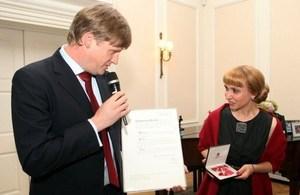 Diana Kovatcheva receives the MBE Honour