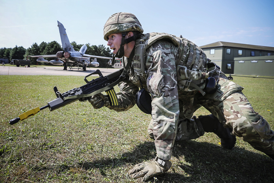 An aircraft technician from 31 Squadron